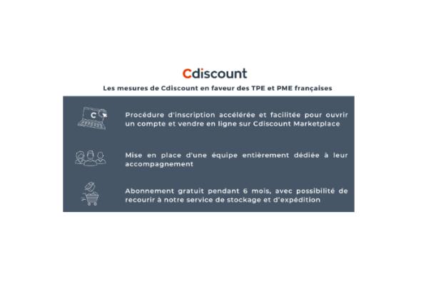 Les mesures de Cdiscount en faveur des TPE/PME