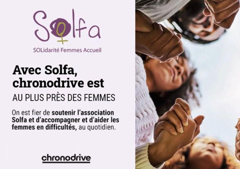 Avec Solfa, Chronodrive est au plus près des femmes
